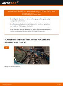 Wie der Wechsel durchführt wird: Federn D 65 1.9 Renault Kangoo kc01 tauschen