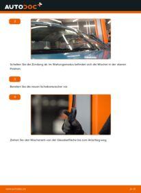Wie der Wechsel durchführt wird: Scheibenwischer D 65 1.9 Renault Kangoo KC tauschen