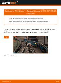 Wie der Wechsel durchführt wird: Zündkerzen D 65 1.9 Renault Kangoo KC tauschen