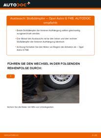 Wie der Wechsel durchführt wird: Stoßdämpfer 1.6 16V (F08, F48) Opel Astra G CC tauschen