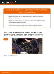 Wie der Wechsel durchführt wird: Stoßdämpfer 1.6 16V (F08, F48) Opel Astra g f48 tauschen