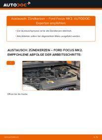 Wie der Wechsel durchführt wird: Zündkerzen 1.6 TDCi Ford Focus mk2 Limousine tauschen