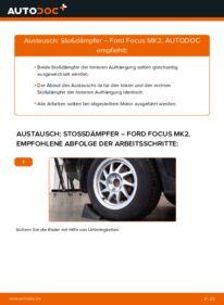 Wie der Wechsel durchführt wird: Stoßdämpfer 1.6 TDCi Ford Focus mk2 Limousine tauschen