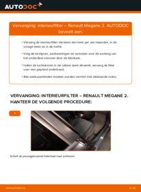 Vervanging uitvoeren: Interieurfilter RENAULT MEGANE