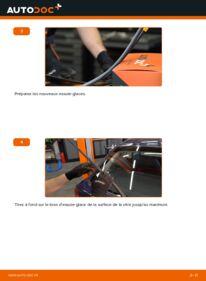 Comment effectuer un remplacement de Essuie-Glaces sur 1.6 16V (F08, F48) Opel Astra g f48