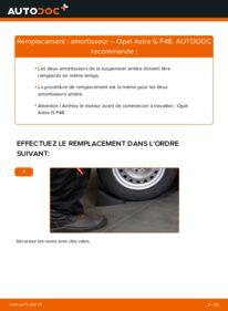 Comment effectuer un remplacement de Amortisseurs sur 1.6 16V (F08, F48) Opel Astra g f48