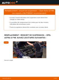 Comment effectuer un remplacement de Ressort d'Amortisseur sur 1.6 16V (F08, F48) Opel Astra g f48