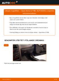 Så byter du Kupefilter på 1.6 16V (F08, F48) Opel Astra g f48