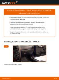 Kaip atlikti keitimą: 1.6 16V (F08, F48) Opel Astra g f48 Oro filtras, keleivio vieta