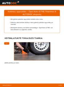 Kaip atlikti keitimą: 1.6 16V (F08, F48) Opel Astra g f48 Spyruoklės