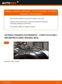 Kaip atlikti keitimą: 1.6 TDCi Ford Focus mk2 Sedanas Amortizatorius