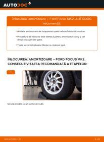 Cum să efectuați înlocuirea: Amortizor la 1.6 TDCi Ford Focus mk2 Sedan