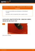 Auswechseln Spritfilter BMW 3 SERIES: PDF kostenlos