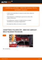 Udskift pollenfilter - BMW E46 cabriolet   Brugeranvisning
