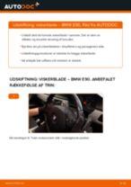 Udskift viskerblade for - BMW E90   Brugeranvisning