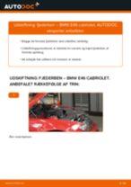 Udskift fjederben for - BMW E46 cabriolet   Brugeranvisning
