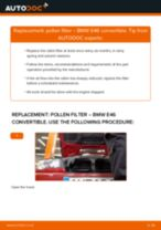 How to change pollen filter on BMW E46 convertible – replacement guide