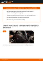 Byta torkarblad fram på BMW E90 – utbytesguide