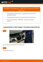 Slik bytter du bremseklosser fremme på en BMW E90 – veiledning
