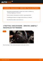 Slik bytter du vindusviskere fremme på en BMW E90 – veiledning
