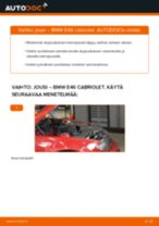 Kuinka vaihtaa jousi eteen BMW E46 cabriolet-autoon – vaihto-ohje