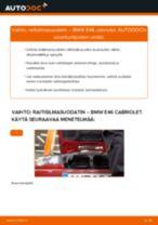 Kuinka vaihtaa raitisilmasuodatin BMW E46 cabriolet-autoon – vaihto-ohje