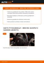Kuinka vaihtaa pyyhkijänsulat eteen BMW E90-autoon – vaihto-ohje