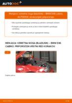 Spletni priročnik kako zamenjati Blažilnik na BMW 3 Convertible (E46)
