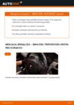 Kako zamenjati avtodel brisalce spredaj na avtu BMW E90 – vodnik menjave