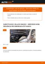 Como mudar e ajustar Vela de Ignição MERCEDES-BENZ A-CLASS: tutorial pdf