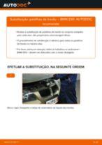 Como substituir Pastilha de freio Discos de freio BMW 3 (E90) - manual online