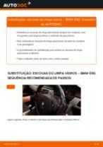 Manual online sobre a substituição de Escovas limpa para brisas em BMW 3 (E90)