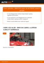 Elülső gólyaláb-csere BMW E46 cabrio gépkocsin – Útmutató