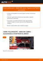 Pollenszűrő-csere BMW E46 cabrio gépkocsin – Útmutató