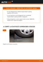 Elülső gólyaláb-csere BMW E90 gépkocsin – Útmutató