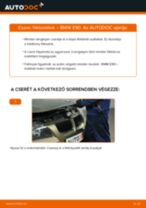 Hátsó fékbetétek-csere BMW E90 gépkocsin – Útmutató