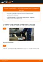 Levegőszűrő-csere BMW E90 gépkocsin – Útmutató