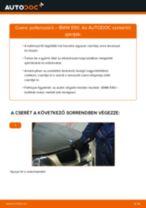 Pollenszűrő-csere BMW E90 gépkocsin – Útmutató
