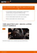 Elülső ablaktörlő lapát-csere BMW E90 gépkocsin – Útmutató