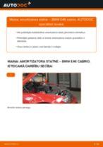 Kā nomainīt: priekšas amortizatora statni BMW E46 cabrio - nomaiņas ceļvedis