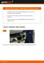 Kā nomainīt: aizmugures bremžu klučus BMW E90 - nomaiņas ceļvedis