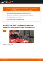 Internetinis vadovas, kaip pačiam pakeisti Amortizatorius ant BMW 3 Convertible (E46)