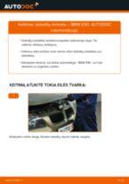 BMW X1 remonto ir priežiūros instrukcija
