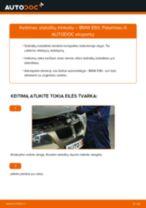 Kaip pakeisti BMW E90 stabdžių trinkeliu: priekis - keitimo instrukcija