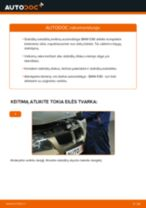 Kaip pakeisti BMW E90 stabdžių diskų: priekis - keitimo instrukcija