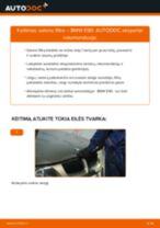 Žingsnis po žingsnio pakeiskite BMW 3 (E90) Oro filtras, keleivio vieta PDF vadovas