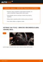Kaip pakeisti BMW E90 valytuvų: priekis - keitimo instrukcija
