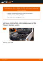 Kaip pakeisti BMW X5 E53 oro filtro - keitimo instrukcija