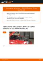 Hoe spiraalveer vooraan vervangen bij een BMW E46 cabrio – Leidraad voor bij het vervangen