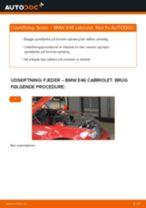 Udskift fjeder for - BMW E46 cabriolet   Brugeranvisning